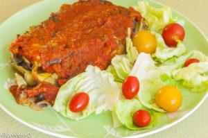 Photo de recette de lasagne aubergines, végétariennes, mozzarella, facile, rapide, légère, économique deKilomètre-0, blog de cuisine réalisée à partir de produits locaux et issus de circuits courts