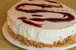 Photo de recette de cheesecake limoncello cassis facile légère rapide de  Kilomètre-0, blog de cuisine réalisée à partir de produits locaux et issus de circuits courts