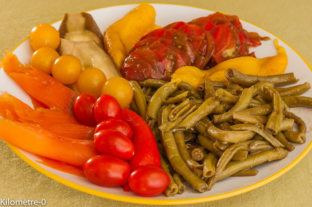 Photo de recette de salade composée d'été facile, légère, rapide et bio de  Kilomètre-0, blog de cuisine réalisée à partir de produits locaux et issus de circuits courts