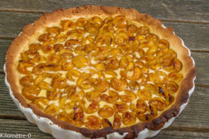 Photo de recette de tarte aux mirabelles inoubliables de Kilomètre-0, blog de cuisine réalisée à partir de produits locaux et issus de circuits courts