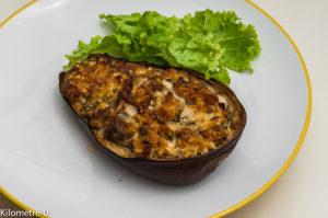 Photo de recette de aubergines farcies dinde pécorino facile léger de  Kilomètre-0, blog de cuisine réalisée à partir de produits locaux et issus de circuits courts