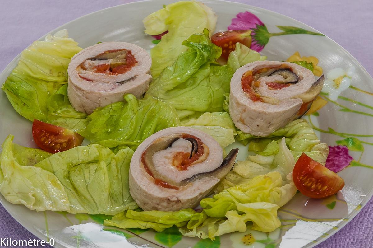 Photo de recette de roulé de dinde aux légumes d'été  facile, rapide, léger, bio de de Kilomètre-0, blog de cuisine réalisée à partir de produits locaux et issus de circuits courts