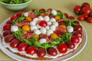 Photo de recette italienne, apéro, buffet, tarte salée, apéro, fête, belle, sympa, facile, légère de Kilomètre-0, blog de cuisine réalisée à partir de produits locaux et issus de circuits courts