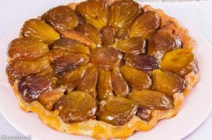 Photo de recette de tatin figues de Kilomètre-0, blog de cuisine réalisée à partir de produits locaux et issus de circuits courts
