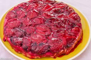 Photo de recette de tatin aux prunes de Kilomètre-0, blog de cuisine réalisée à partir de produits locaux et issus de circuits courts