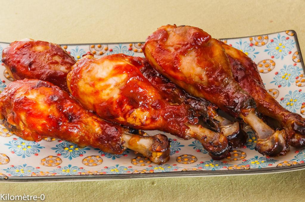 Photo de recette de pilons, poulet, sauce barbecue, soja, miel, ketchup, facile, rapide de Kilomètre-0, blog de cuisine réalisée à partir de produits locaux et issus de circuits courts