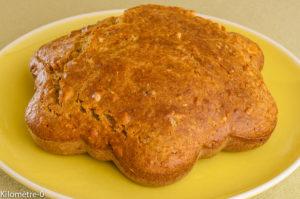 Photo de recette de gâteau du matin noisettes, sésame, facile, rapide de Kilomètre-0, blog de cuisine réalisée à partir de produits locaux et issus de circuits courts