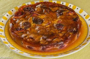 Photo de recette de gâteau facile, rapide, bio aux prunes de Kilomètre-0, blog de cuisine réalisée à partir de produits locaux et issus de circuits courts