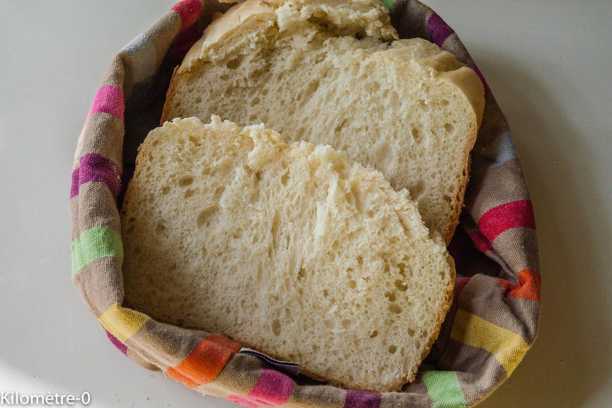 Photo de recette de pain de mie gourmande, facile, rapide, léger, bio de Kilomètre-0, blog de cuisine réalisée à partir de produits locaux et issus de circuits courts