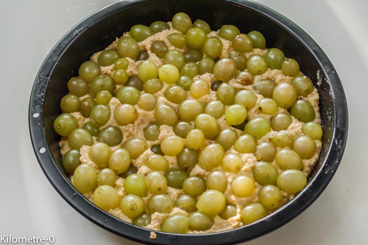 Photo de recette de gâteau aux raisins blancs, raisins d'Italie, facile, rapide, léger de Kilomètre-0, blog de cuisine réalisée à partir de produits locaux et issus de circuits courts