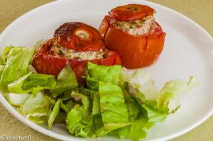 Photo de recette de tomates farcies à l'italienne, ricotta, porc, jambon facile, rapide, léger, de Kilomètre-0, blog de cuisine réalisée à partir de produits locaux et issus de circuits courts