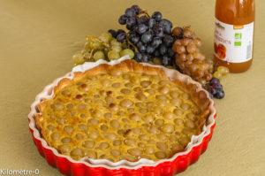 Photo de recette de tarte, raisins frais, raisin blanc,noisettes, facile, rapide, bio, léger de Kilomètre-0, blog de cuisine réalisée à partir de produits locaux et issus de circuits courts