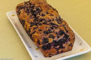 Photo de recette de bread cake facile rapide, bio, myrtilles, banane de Kilomètre-0, blog de cuisine réalisée à partir de produits locaux et issus de circuits courts