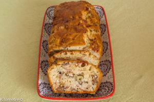 Photo de recette de cake noix, jambon de Parme et raisins frais, raisin blanc, léger, rapide de Kilomètre-0, blog de cuisine réalisée à partir de produits locaux et issus de circuits courts