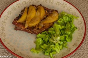 Photo de recette de travers de porc aux poires, facile, rapide, léger de Kilomètre-0, blog de cuisine réalisée à partir de produits locaux et issus de circuits courts