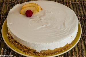 Photo de recette de cheesecake aux pommes caramélisées, Nantes, pays de la loire, facile, léger, rapide, bio deKilomètre-0, blog de cuisine réalisée à partir de produits locaux et issus de circuits courts