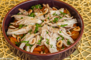 Photo de recette de raie, carottes, tajine, amandes, facile, rapide, léger, simple de Kilomètre-0, blog de cuisine réalisée à partir de produits locaux et issus de circuits courts