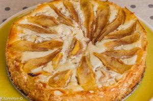 Photo de recette de gâteau, poire, ricotta, facile, cheesecake, rapide, bio, petits beurre, léger, Kilomètre-0, blog de cuisine réalisée à partir de produits locaux et issus de circuits courts
