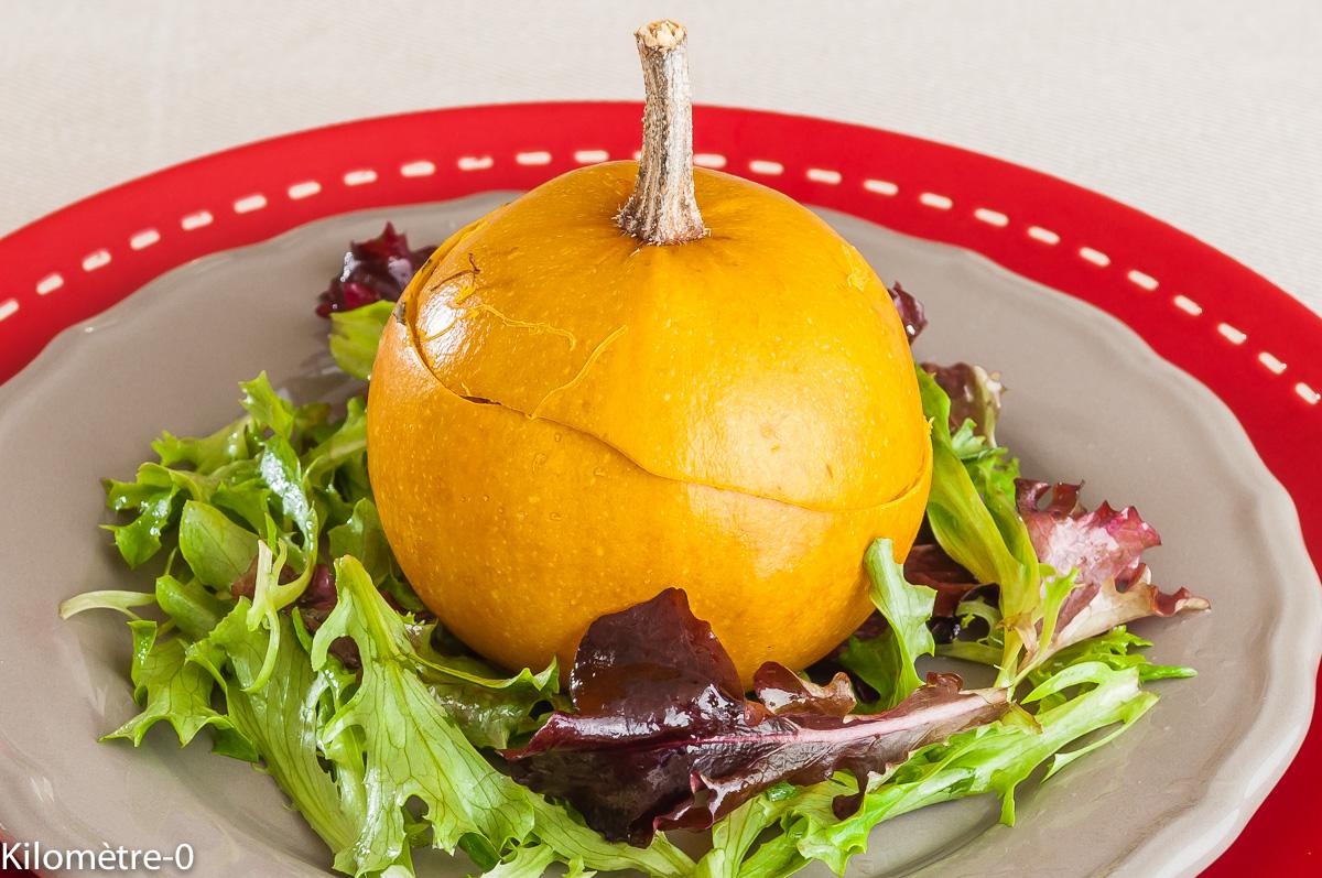 Photo de recette de pomme d'or, pomme d'or farcie, roquefort, jambon, facile, rapide, de Kilomètre-0, blog de cuisine réalisée à partir de produits locaux et issus de circuits courts