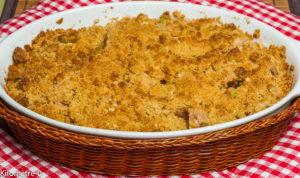 Photo de recette de crumble facile, léger, bion poires, rapide, de Kilomètre-0, blog de cuisine réalisée à partir de produits locaux et issus de circuits courts