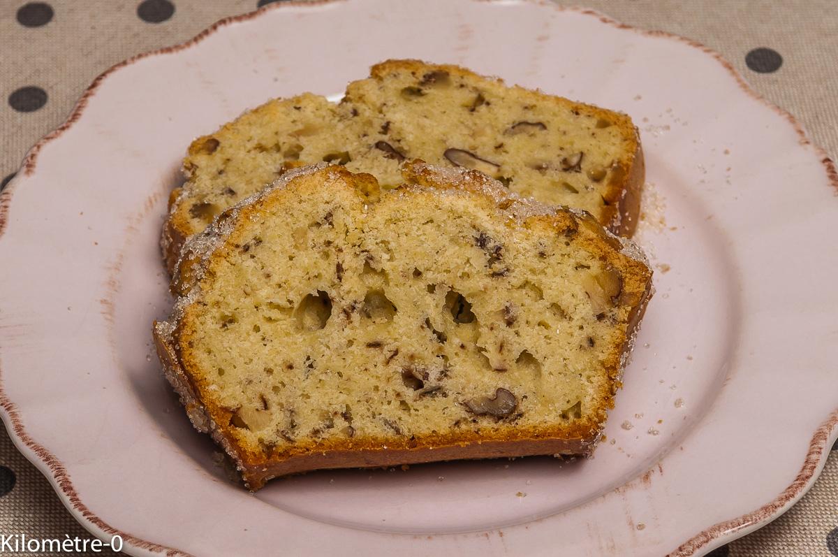 Photo de recette de cake, amandes, noix, facile, rapide, bio de Kilomètre-0, blog de cuisine réalisée à partir de produits locaux et issus de circuits courts