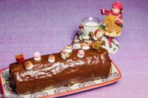 Photo de recette de bûche, Noël, facile, rapide, légère, chocolat, spéculoos, Kilomètre-0, blog de cuisine réalisée à partir de produits locaux et issus de circuits courts