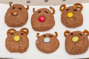 Photo de recette de biscuit, rennes, facile, rapide, rigolo, marrant, joli, Noël, enfant, original, de Kilomètre-0, blog de cuisine réalisée à partir de produits locaux et issus de circuits courts