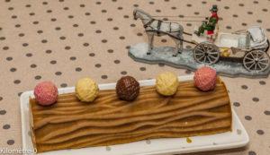Photo de recette de bûche, glacée vanille, spéculoos, facile, rapide, légère, Noël, crème anglaise de Kilomètre-0, blog de cuisine réalisée à partir de produits locaux et issus de circuits courts