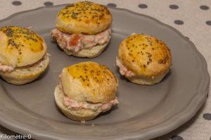 Photo de recette de mousse de saumon à l'orange, mini burger, burger, facile, rapide, léger, Kilomètre-0, blog de cuisine réalisée à partir de produits locaux et issus de circuits courts