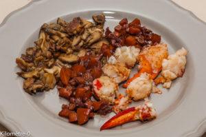 Photo de recette de homard à la bordelaise, homard, facile, rapide, léger, simple, Kilomètre-0, blog de cuisine réalisée à partir de produits locaux et issus de circuits courts