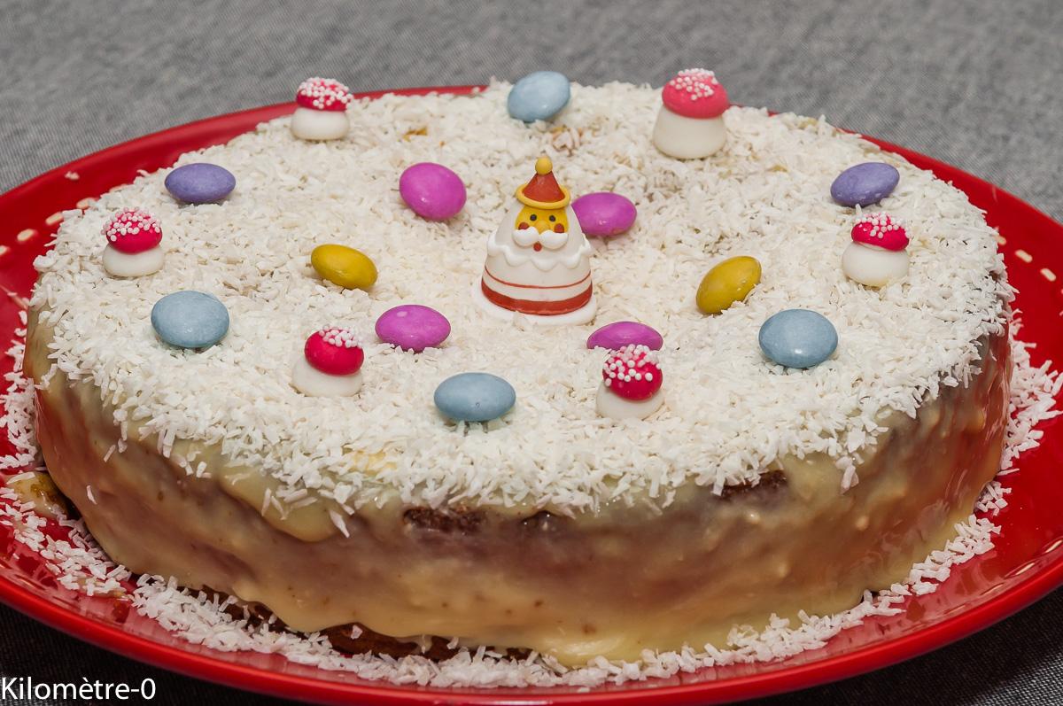 Photo de recette de fondant, chocolat, blanc, facile, noix de coco, original, Noël, enfant, anniversaire de Kilomètre-0, blog de cuisine réalisée à partir de produits locaux et issus de circuits courts