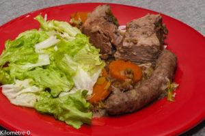 Photo de recette de potée, lentilles, facile, saucisses, porc, mijoté, bio de  Kilomètre-0, blog de cuisine réalisée à partir de produits locaux et issus de circuits courts