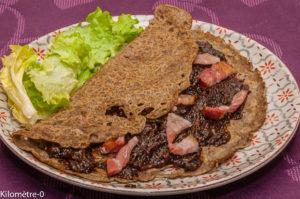 Photo de recette de  galette, sarrasin, pruneaux, lard, poitrine, Kilomètre-0, blog de cuisine réalisée à partir de produits locaux et issus de circuits courts