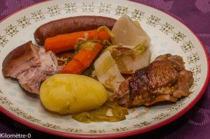 Photo de recette de potée, pintade, hiver, facile, léger, bio, Kilomètre-0, blog de cuisine réalisée à partir de produits locaux et issus de circuits courts