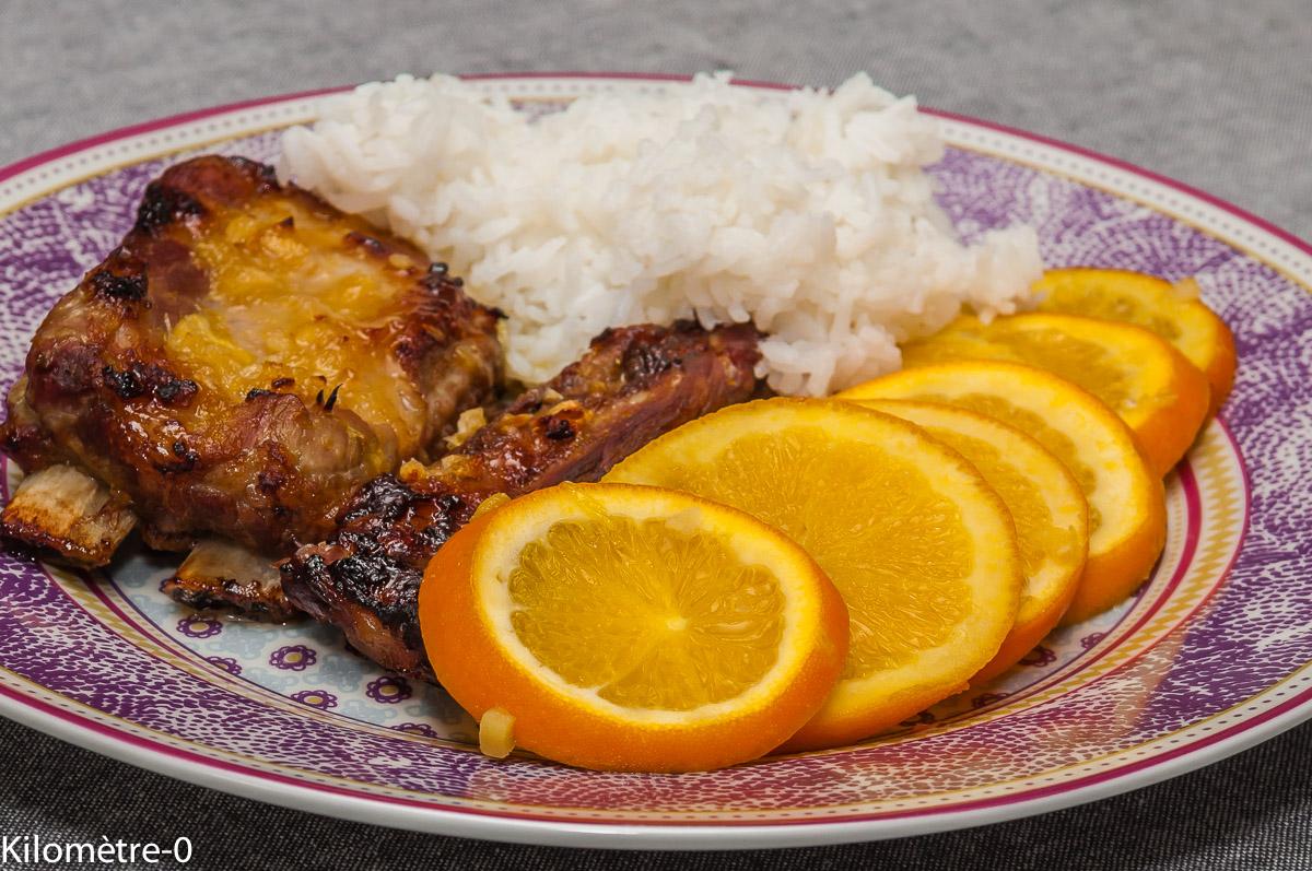 Photo de recette de travers de porc, mariné, orange, facile, léger, rapide, riz, spareribsKilomètre-0, blog de cuisine réalisée à partir de produits locaux et issus de circuits courts
