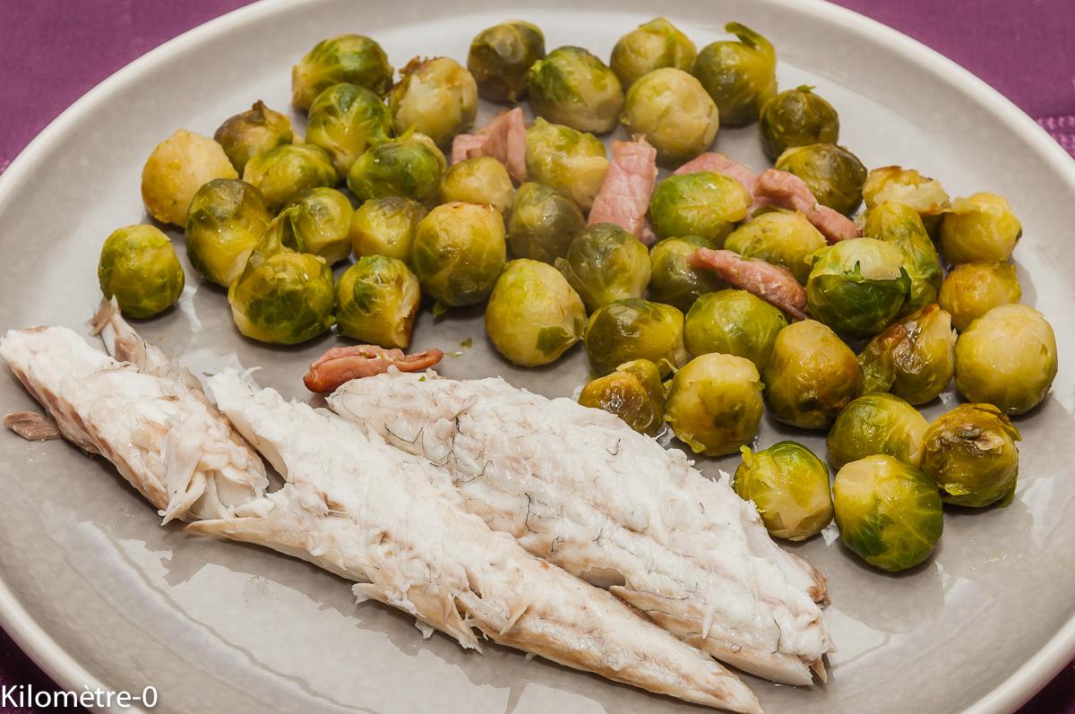 Photo de recette de bar en croûte de sel, choux de Bruxelles, facile, rapide, poisson, léger  Kilomètre-0, blog de cuisine réalisée à partir de produits locaux et issus de circuits courts