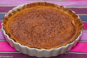 Photo de recette de tarte au café, facile, rapide, léger, Kilomètre-0, blog de cuisine réalisée à partir de produits locaux et issus de circuits courts