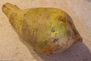 Photo de recette de rutabaga, facile, bio, rapide, de Kilomètre-0, blog de cuisine réalisée à partir de produits locaux et issus de circuits courts