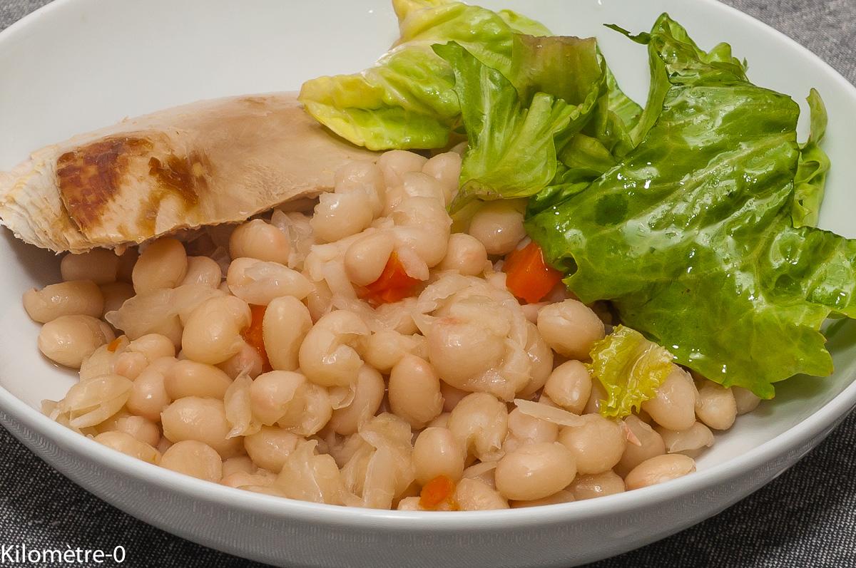 Photo de recette de haricots blancs, mogettes, vendéennes, de Kilomètre-0, blog de cuisine réalisée à partir de produits locaux et issus de circuits courts