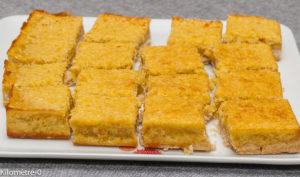 Photo de recette de  carrés, fondant, orange, noix de coco, facile, rapide, léger, bio de Kilomètre-0, blog de cuisine réalisée à partir de produits locaux et issus de circuits courts