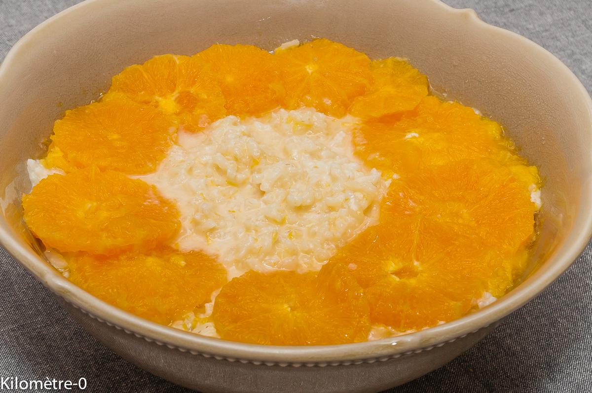 Photo de recette de riz au lait, orange, facile, rapide, léger, four vapeur, bio de  Kilomètre-0, blog de cuisine réalisée à partir de produits locaux et issus de circuits courts