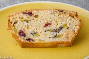Photo de recette de gâteau, cake, cranberries, kiwis, facile, rapide, bio de Kilomètre-0, blog de cuisine réalisée à partir de produits locaux et issus de circuits courts
