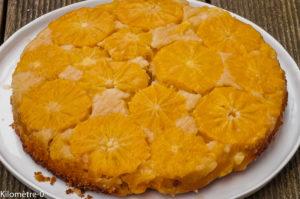 Photo de recette de gâteau renversé, orange, facile, rapide, bio, léger de Kilomètre-0, blog de cuisine réalisée à partir de produits locaux et issus de circuits courts