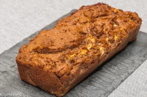 Photo de recette de cake pomme noix, facile, rapide, léger, bio de Kilomètre-0, blog de cuisine réalisée à partir de produits locaux et issus de circuits courts