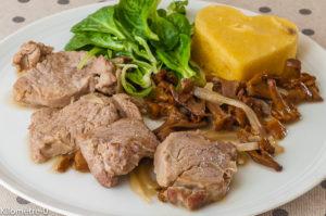 Photo de recette de porc facile, filet mignon, polenta, rapide, bio de Kilomètre-0, blog de cuisine réalisée à partir de produits locaux et issus de circuits courts
