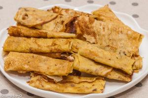Photo de recette de crêpes dentelle bio de Kilomètre-0, blog de cuisine réalisée à partir de produits locaux et issus de circuits courts