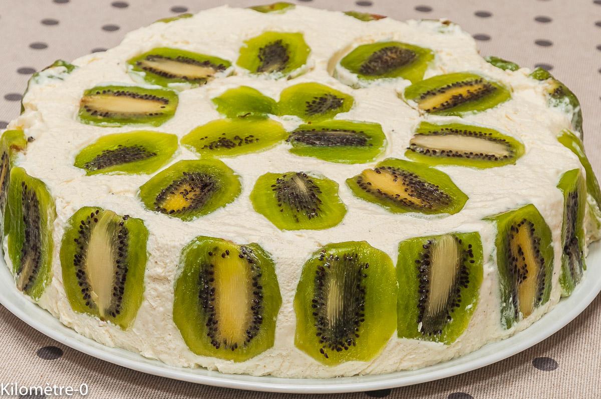 Photo de recette de bavarois vanille et kiwi, facile, rapide, léger, Kilomètre-0, blog de cuisine réalisée à partir de produits locaux et issus de circuits courts