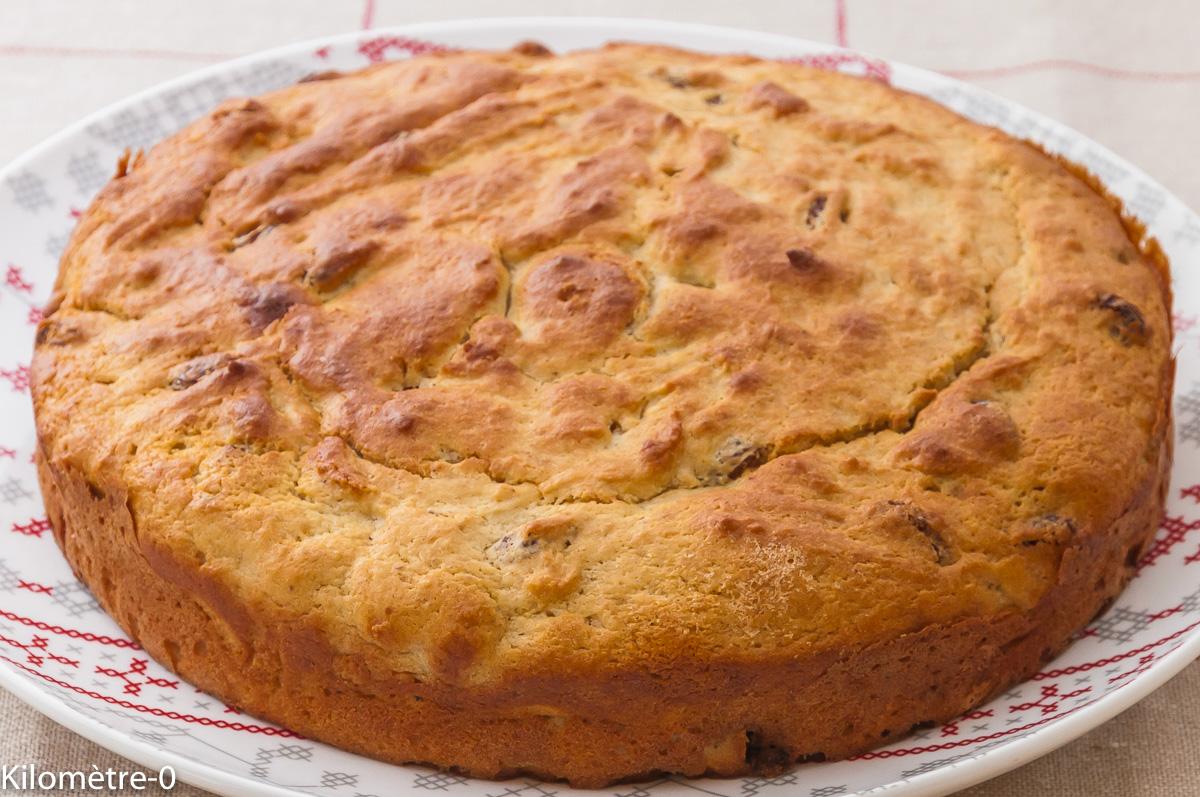 Photo de recette de cake ricotta raisins, facile, rapide, léger, bio de Kilomètre-0, blog de cuisine réalisée à partir de produits locaux et issus de circuits courts