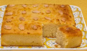 Photo de recette de basboussa facile, de Kilomètre-0, blog de cuisine réalisée à partir de produits locaux et issus de circuits courts