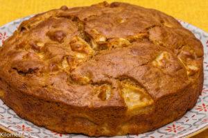 Photo de recette de gâteau pommes spéculoos facile, rapide  de Kilomètre-0, blog de cuisine réalisée à partir de produits locaux et issus de circuits courts